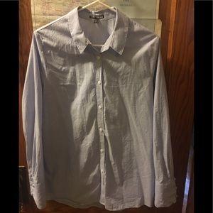 """Express Women's cotton """"boyfriend"""" shirt."""